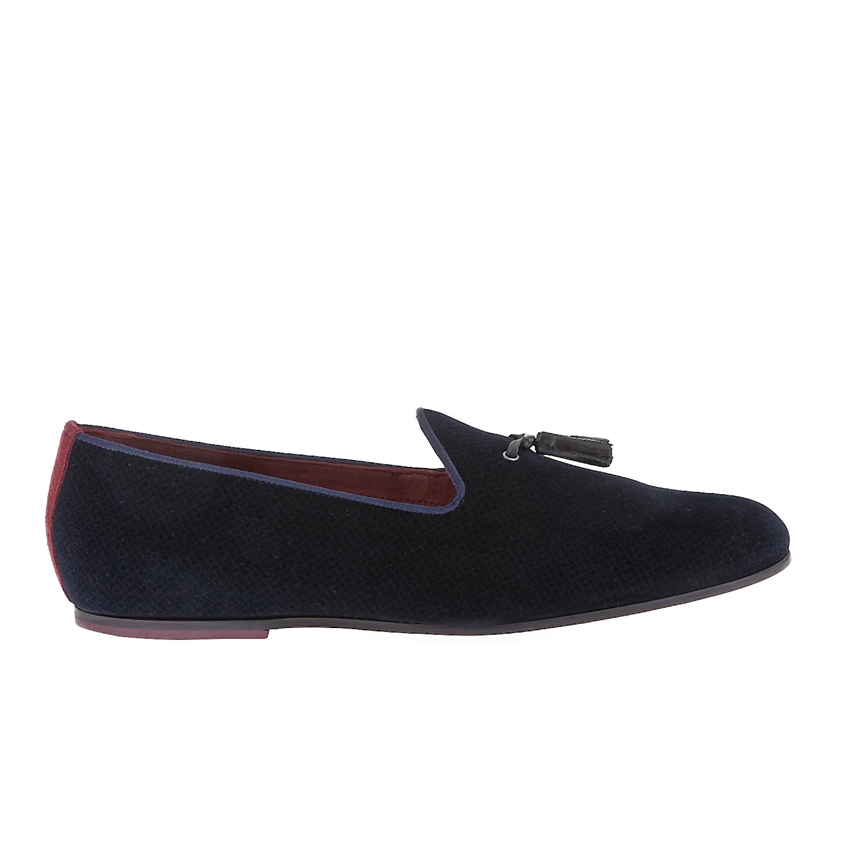 TED BAKER - Ανδρικά παπούτσια Ted Baker μαύρα-μπλε ανδρικά παπούτσια μοκασίνια loafers