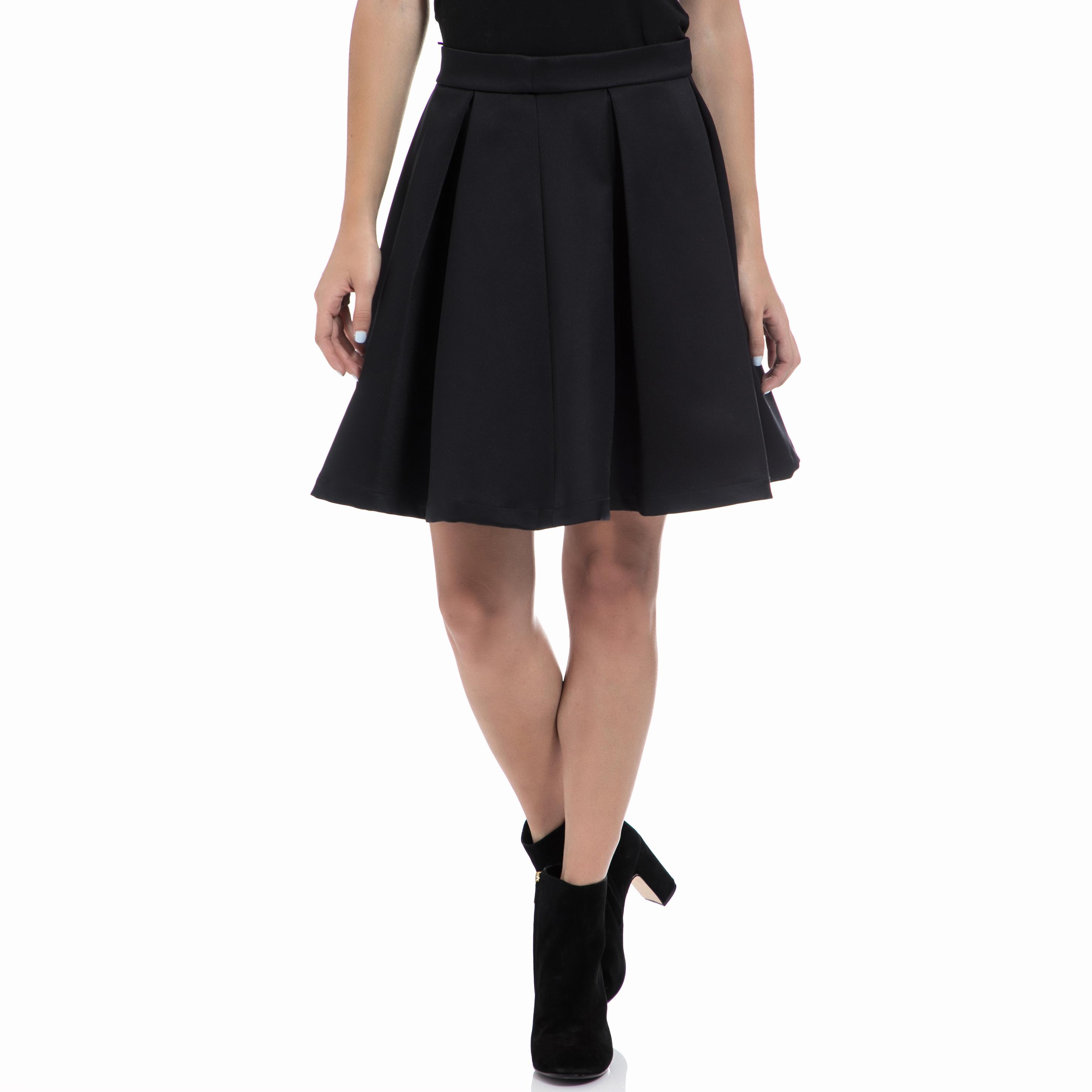 GUESS - Γυναικεία φούστα GUESS μαύρη γυναικεία ρούχα φούστες μέχρι το γόνατο
