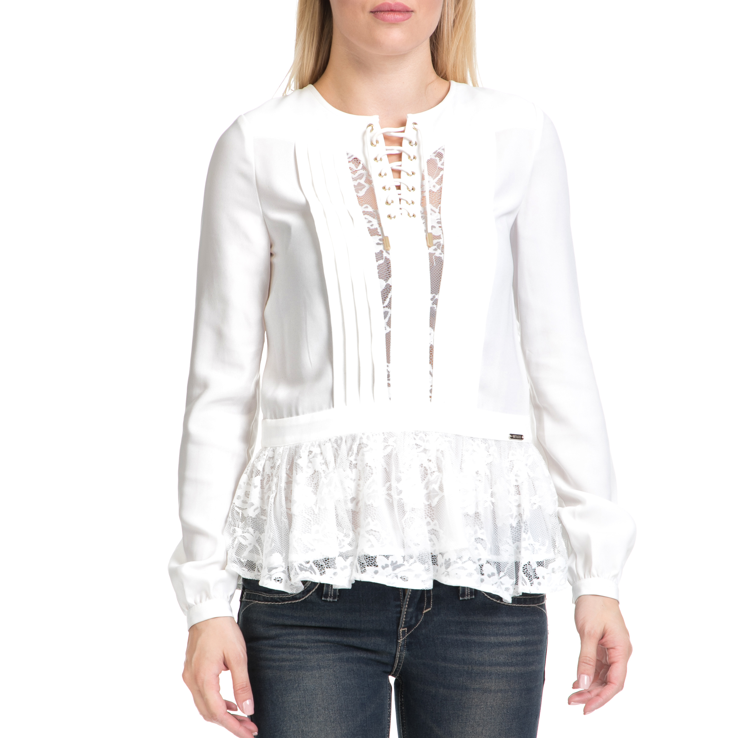 GUESS – Γυναικεία μπλούζα ANNALISA GUESS λευκή