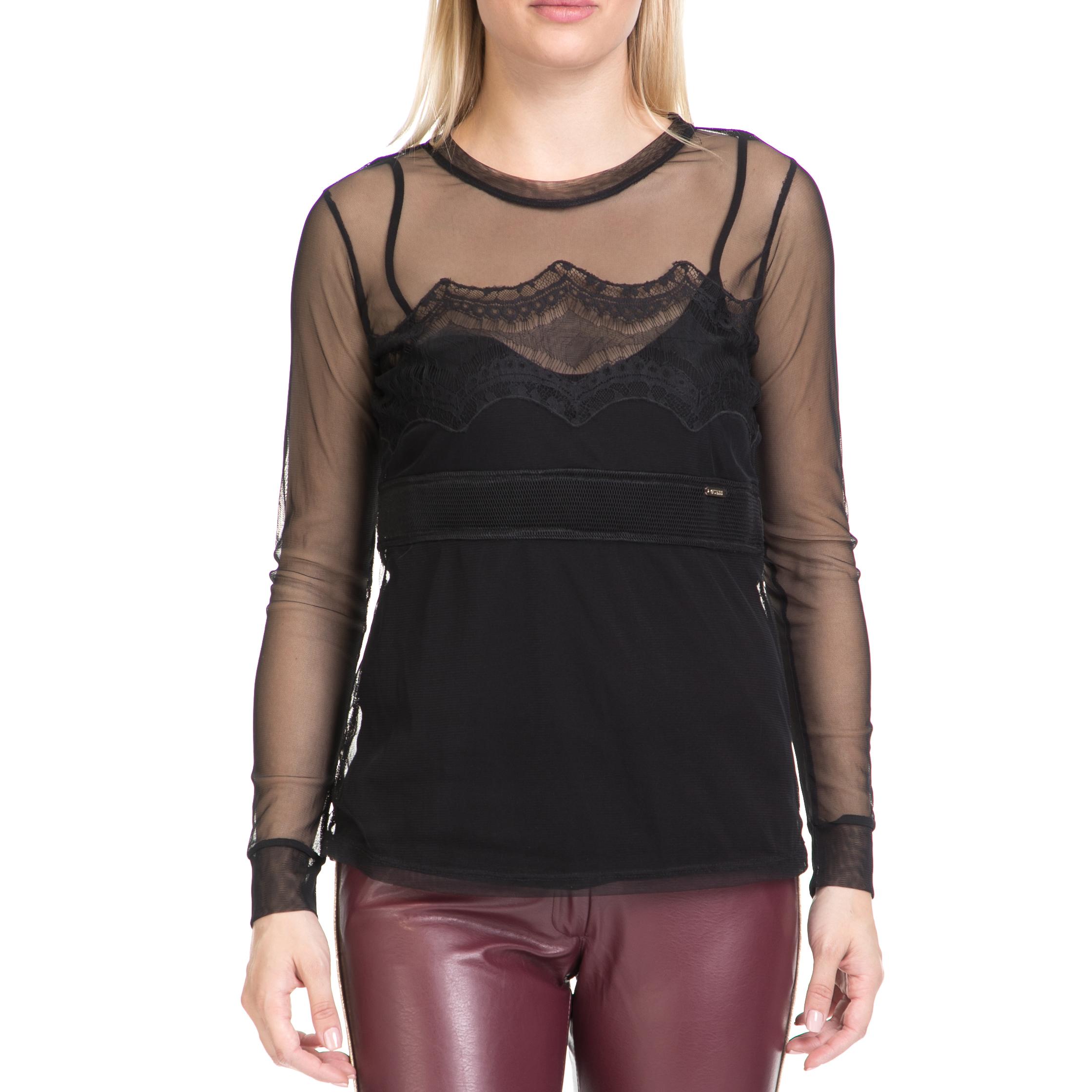 GUESS – Γυναικεία μπλούζα MILVA GUESS μαύρη