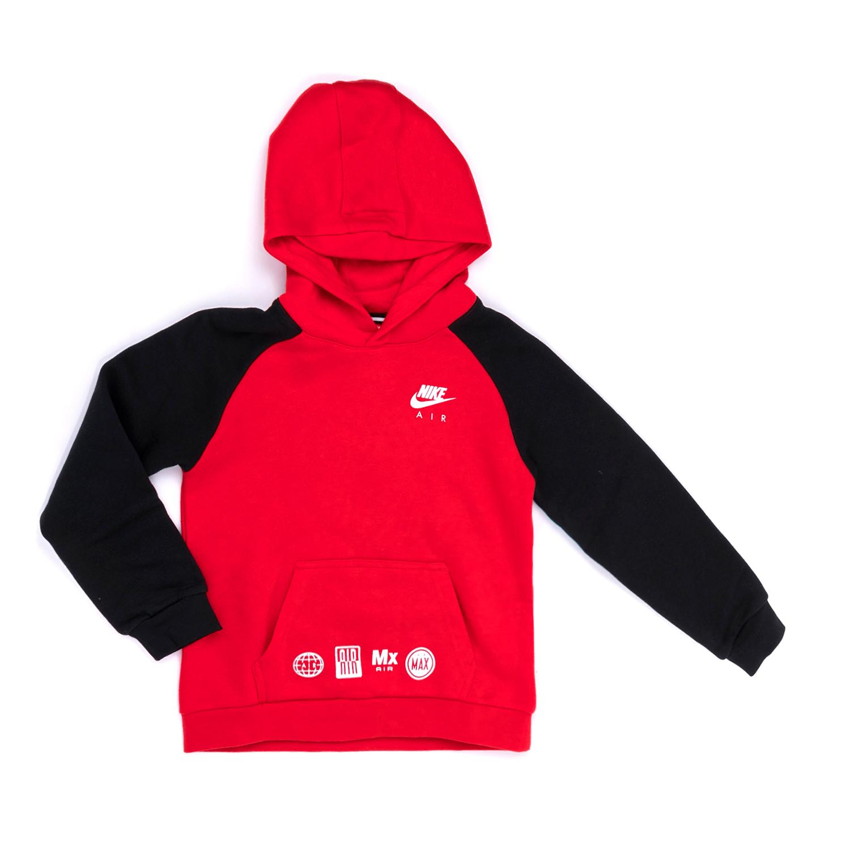 NIKE KIDS – Παιδικό φούτερ NIKE κόκκινο-μαύρο