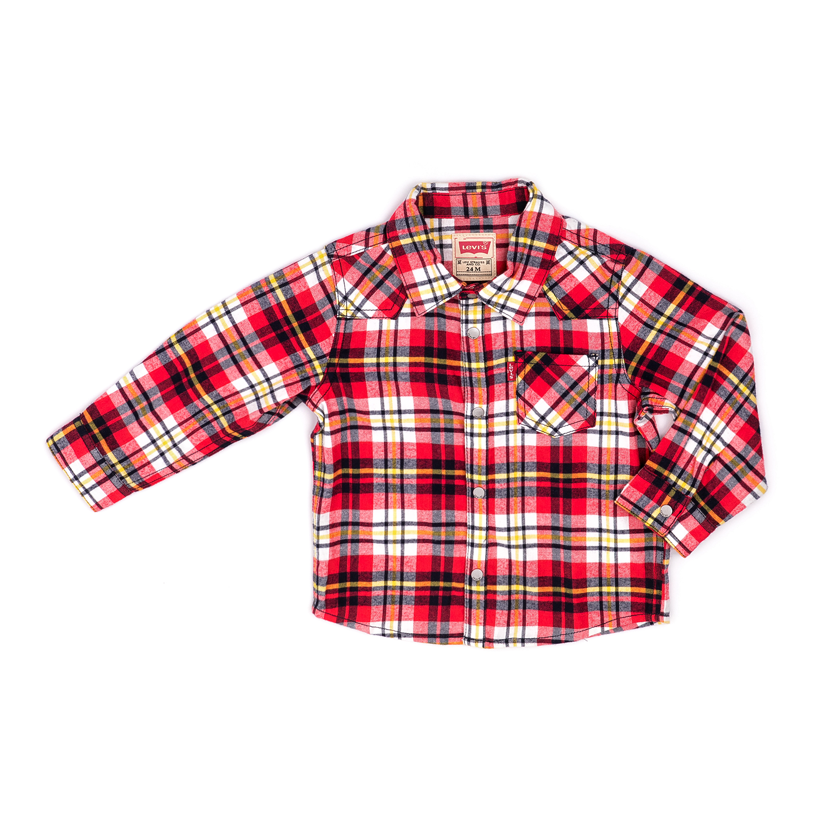 LEVI'S KIDS – Παιδικό πουκάμισο LEVI'S KIDS κόκκινο-λευκό