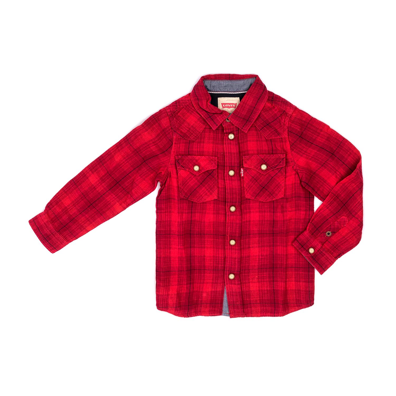 LEVIS KID'S – Παιδικό πουκάμισο LEVI'S KIDS κόκκινο