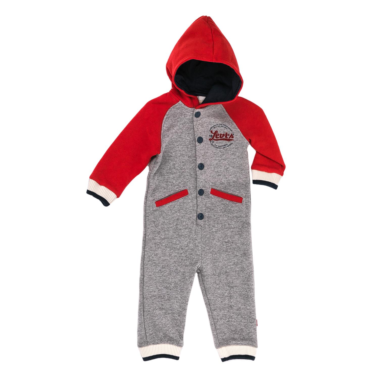 LEVI'S KIDS – Παιδικό ολόσωμο φορμάκι Levi's Kids γκρι – κόκκινο