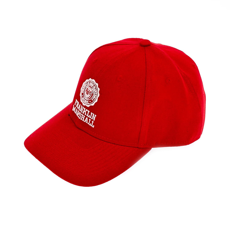 FRANKLIN & MARSHALL - Καπέλο τζόκεϋ Franklin & Marshall κόκκινο γυναικεία αξεσουάρ φουλάρια κασκόλ γάντια