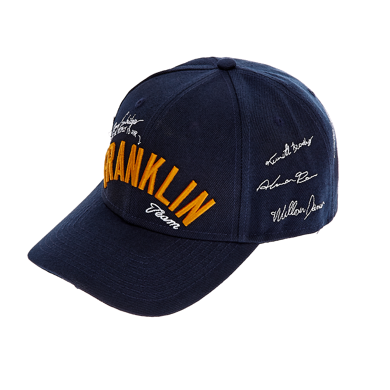 FRANKLIN & MARSHALL - Unisex καπέλο jockey Franklin & Marshall μπλε