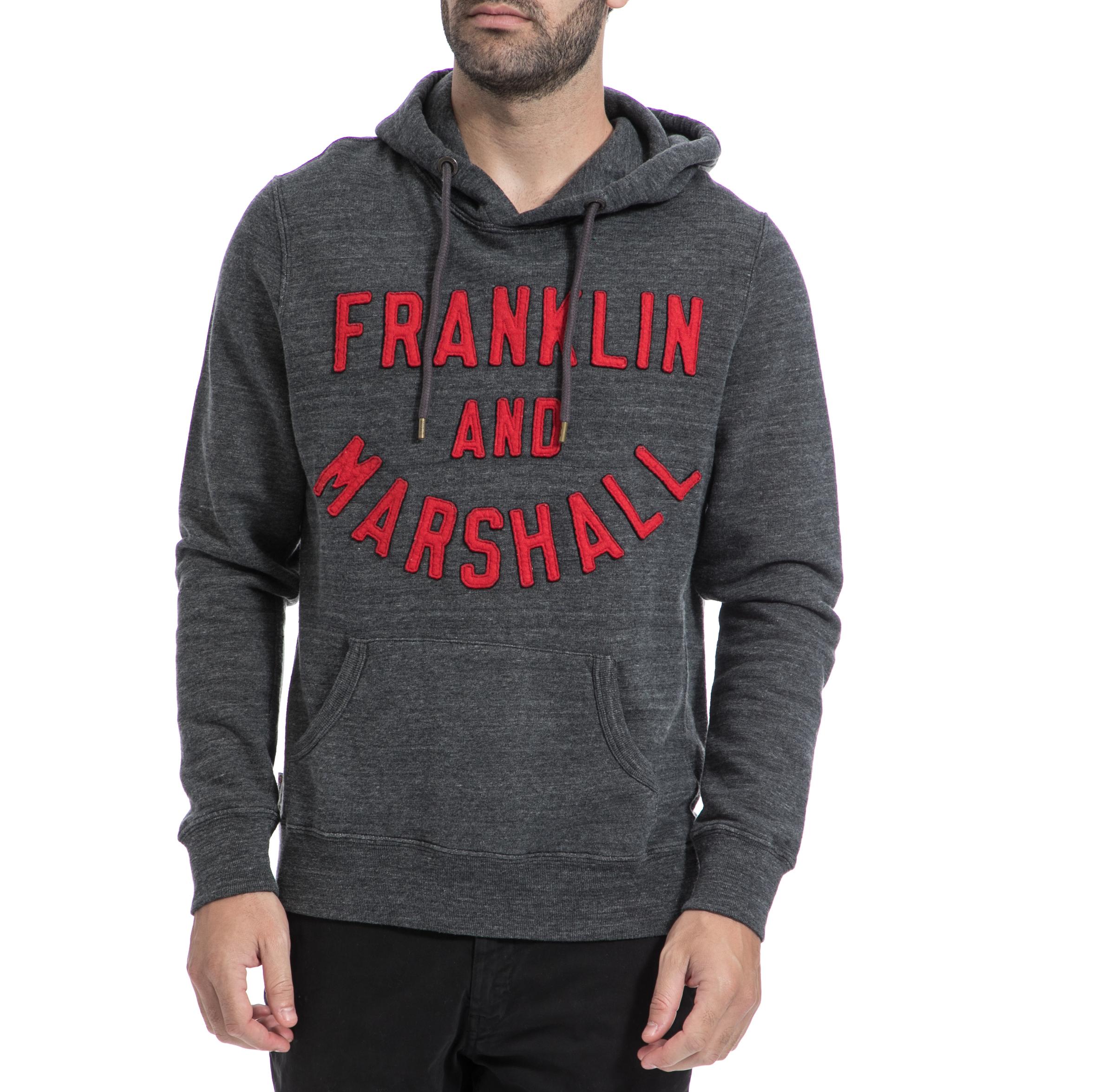 FRANKLIN & MARSHALL – Αντρικό φούτερ FRANKLIN & MARSHALL γκρι