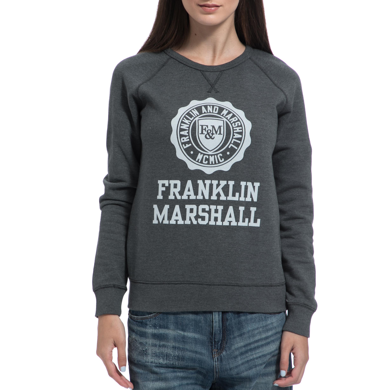 0ff7f8a865cb FRANKLIN   MARSHALL - Γυναικείο φούτερ FRANKLIN   MARSHALL γκρι