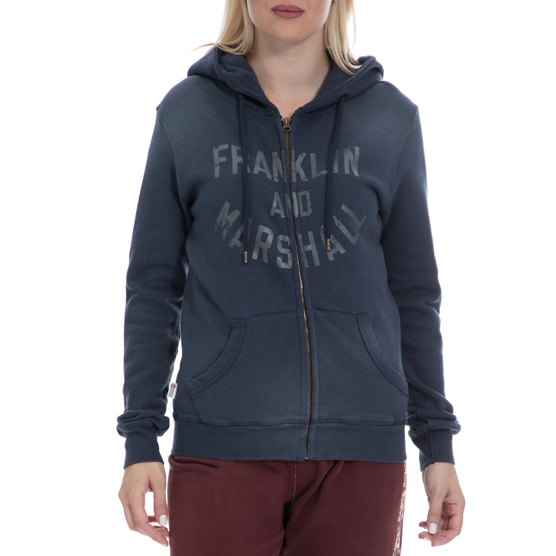 d991e278022f FRANKLIN   MARSHALL – Γυναικεία ζακέτα FRANKLIN   MARSHALL μπλε