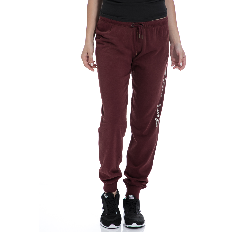 FRANKLIN & MARSHALL - Γυναικεία φόρμα FRANKLIN & MARSHALL μπορντό γυναικεία ρούχα αθλητικά φόρμες