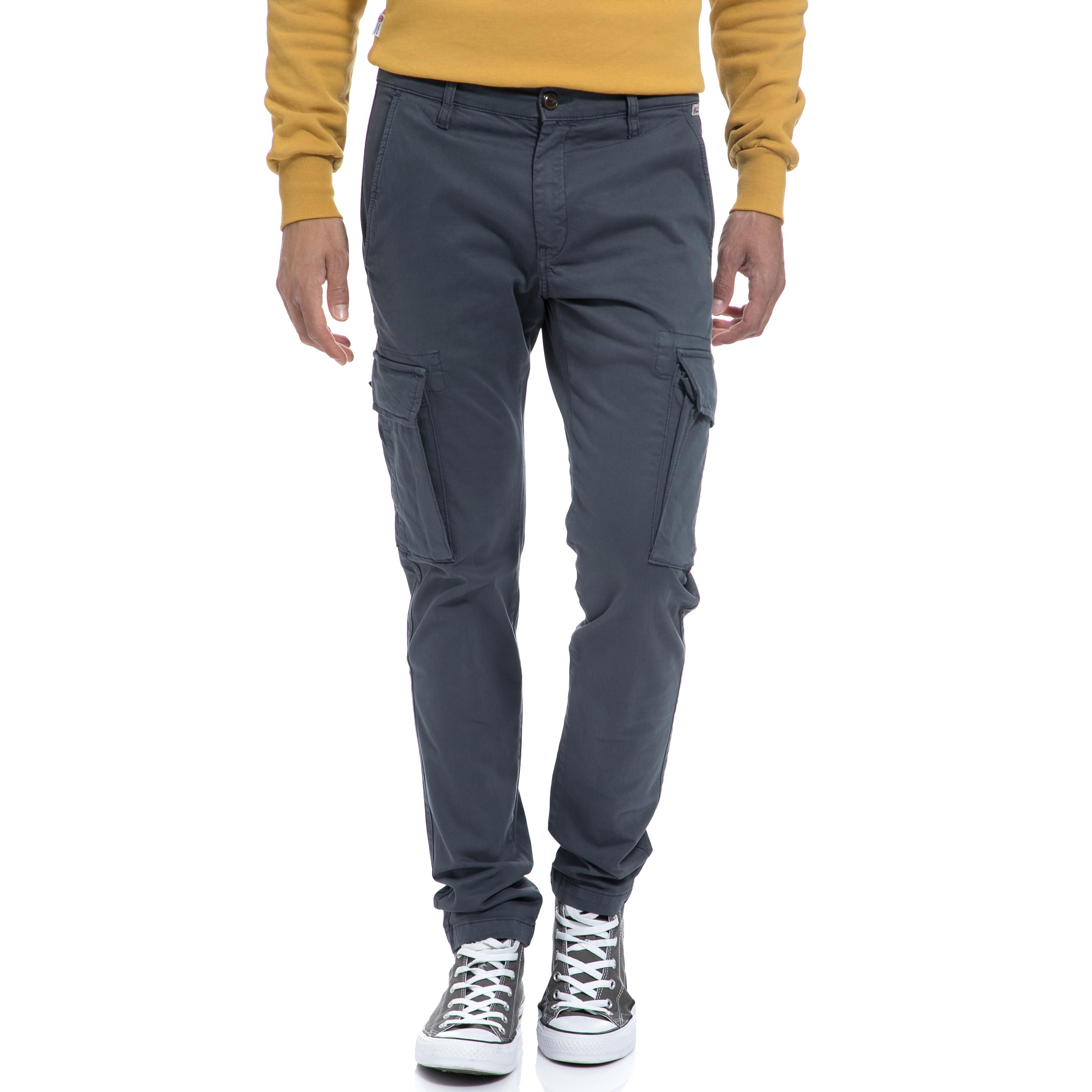 FRANKLIN & MARSHALL – Αντρικό παντελόνι FRANKLIN & MARSHALL γκρι-μπλε