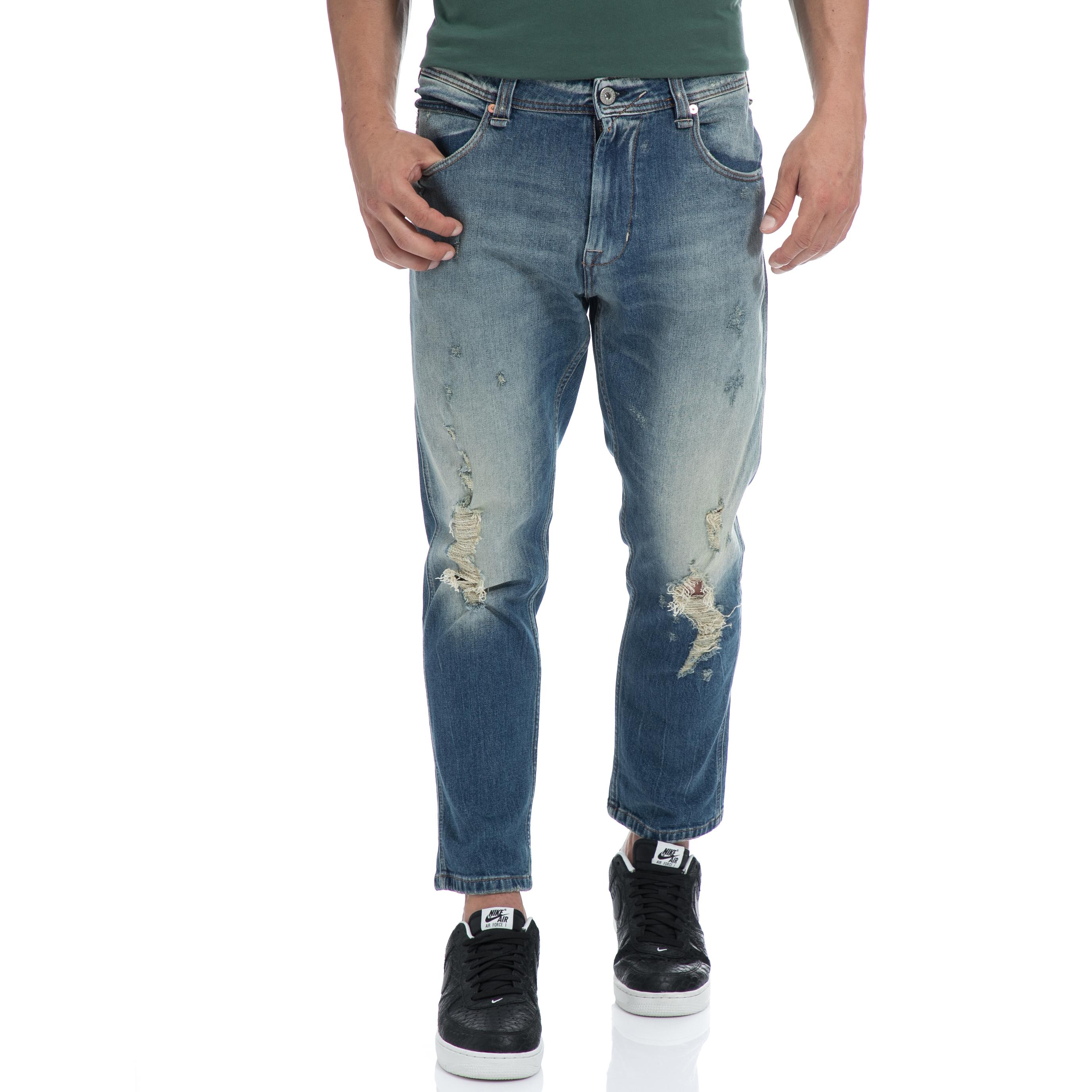 FRANKLIN & MARSHALL – Αντρικό τζιν παντελόνι FRANKLIN & MARSHALL μπλε