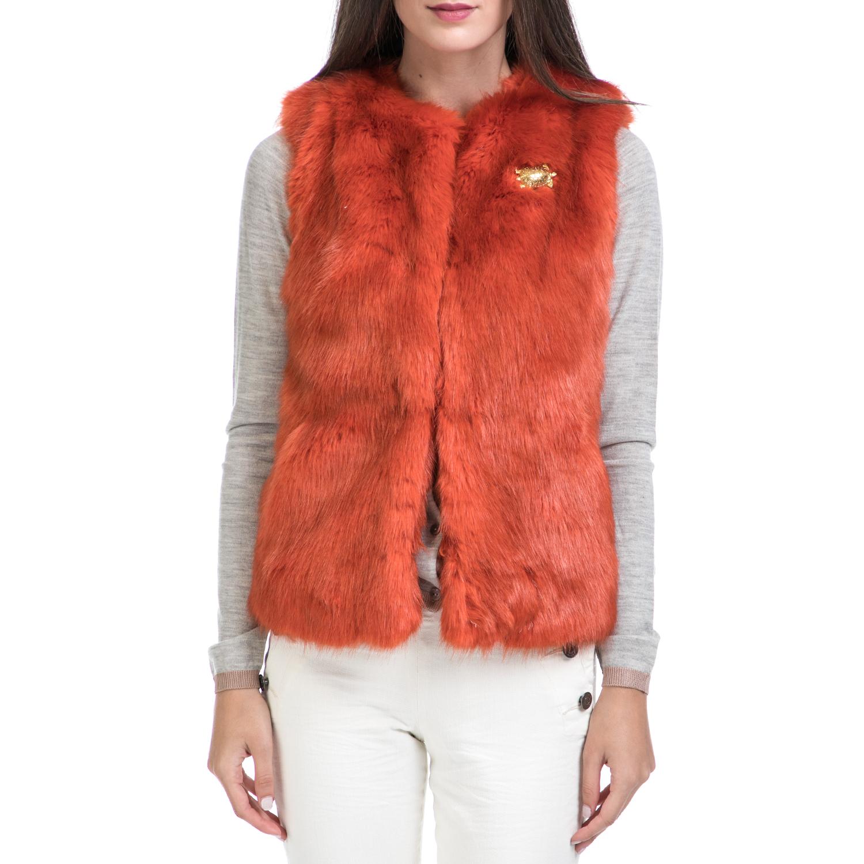 MAISON SCOTCH - Γυναικείο γιλέκο MAISON SCOTCH κόκκινο γυναικεία ρούχα πανωφόρια αμάνικα μπουφάν