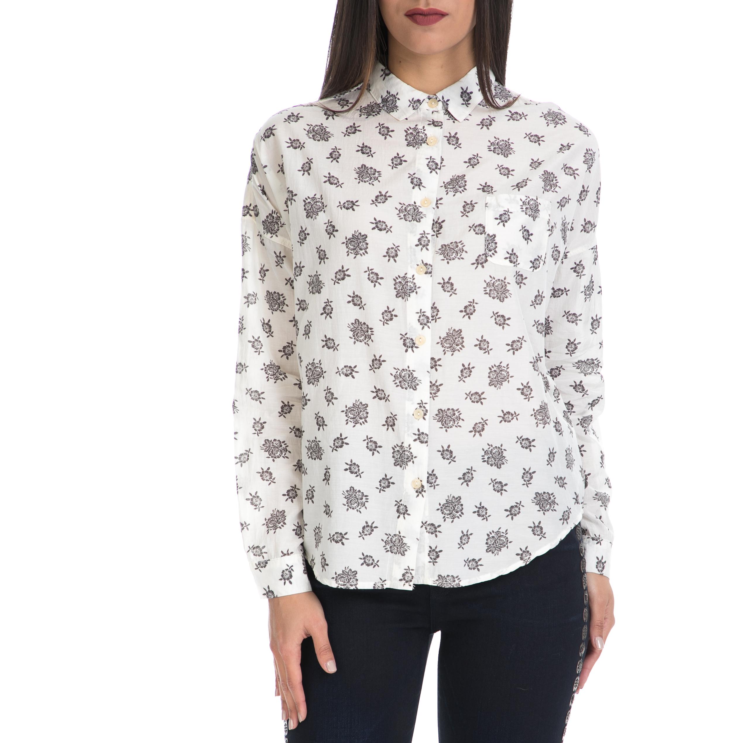 MAISON SCOTCH – Γυναικείο πουκάμισο MAISON SCOTCH λευκό-μαύρο