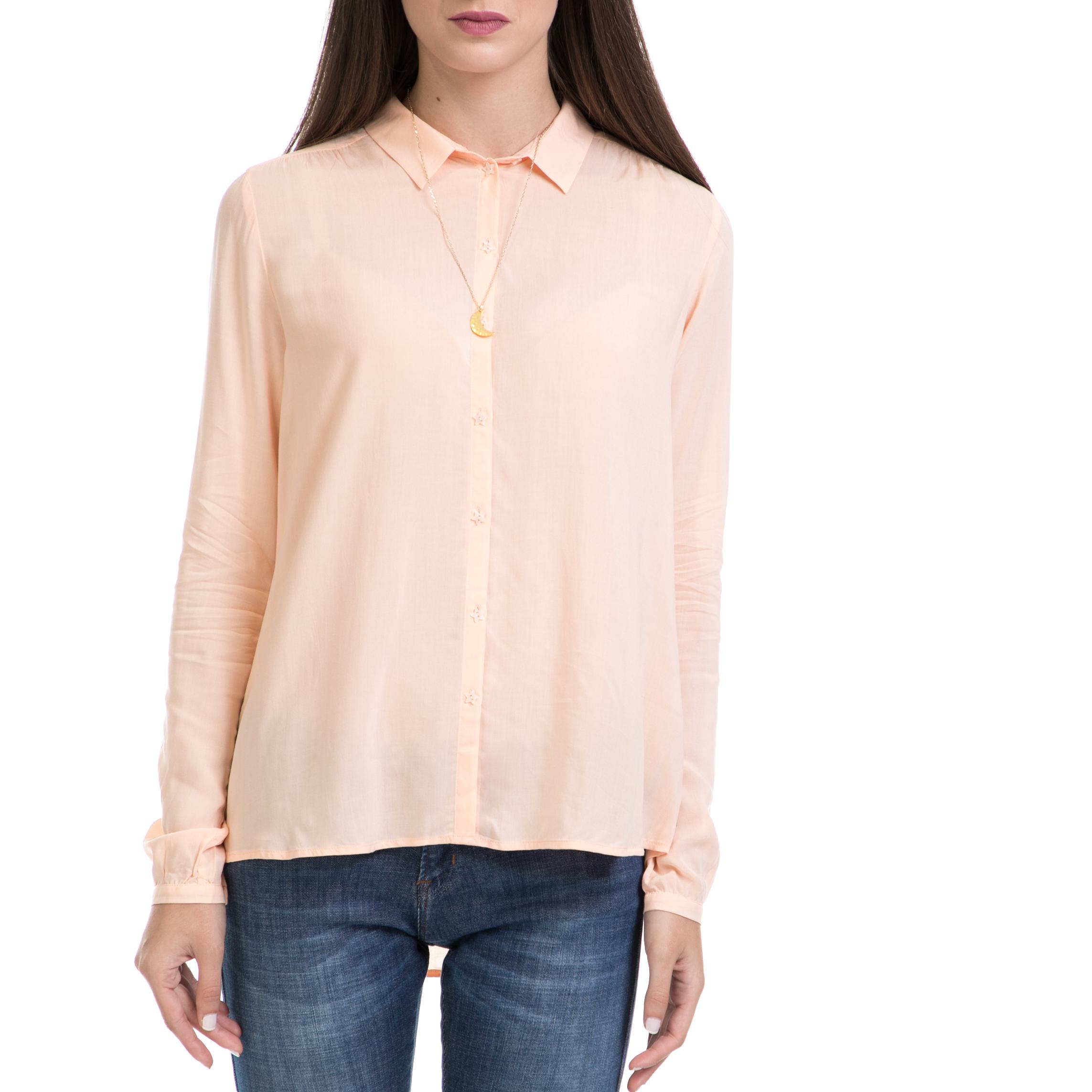 SCOTCH   SODA – Γυναικείο πουκάμισο MAISON SCOTCH πορτοκαλί 3ebb90fadb2