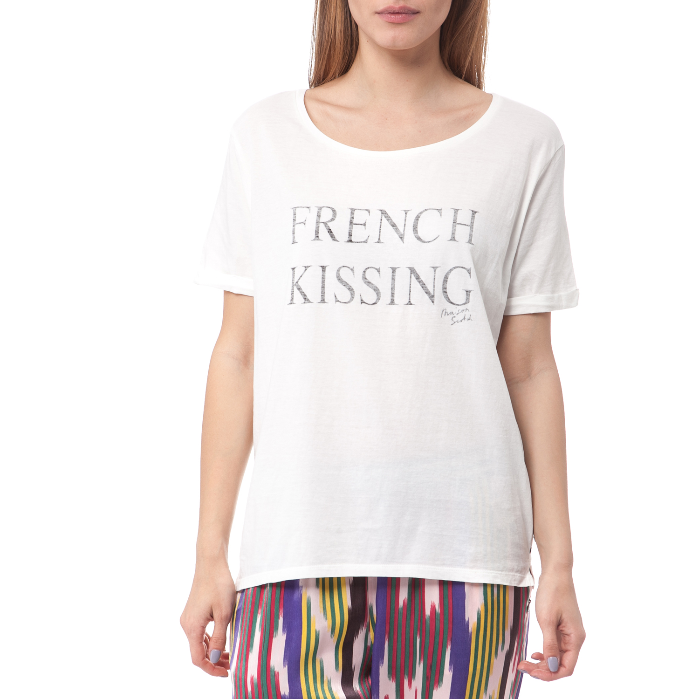 SCOTCH   SODA - Γυναικεία μπλούζα Maison Scotch λευκή ⋆ egynaika.gr 95f173162bc