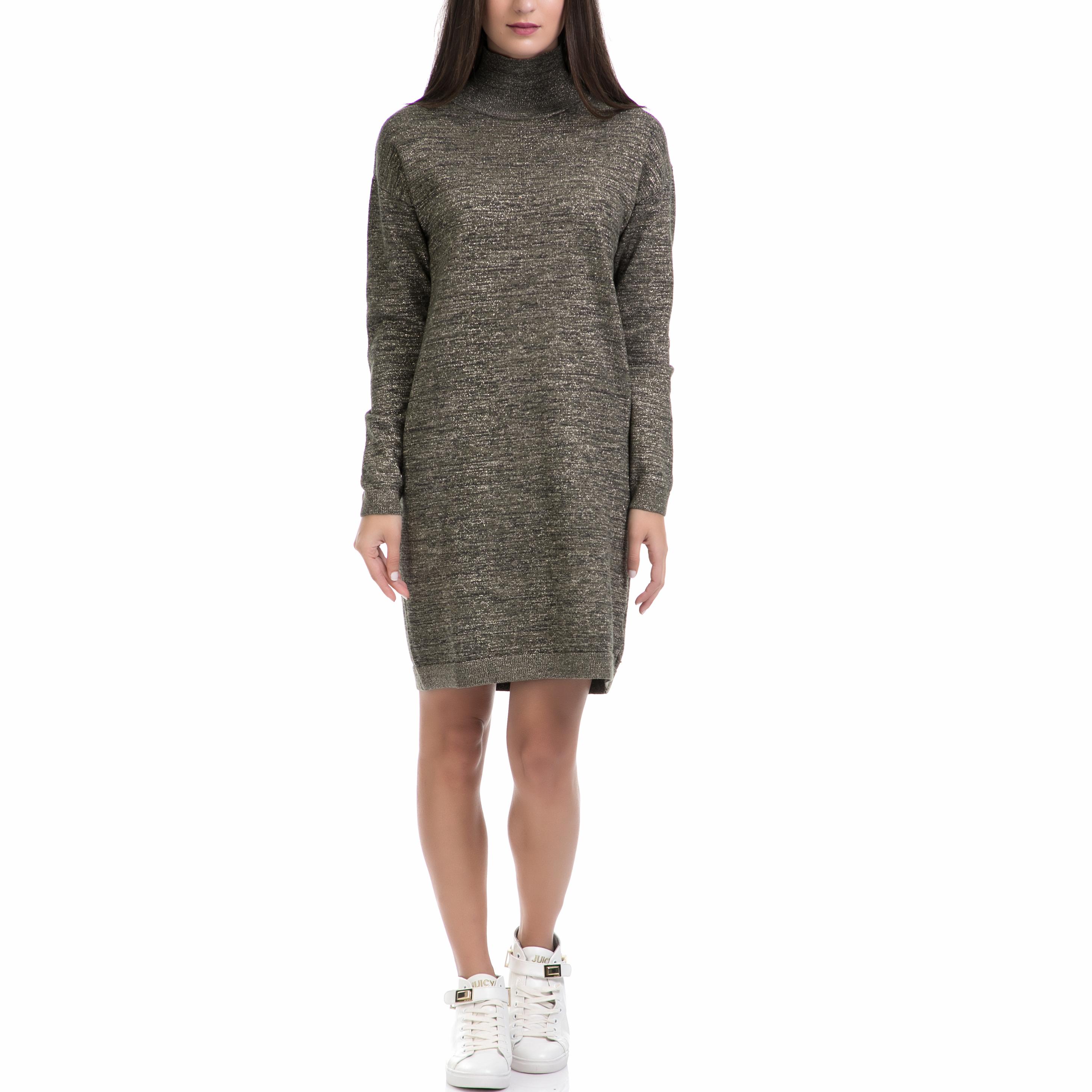 MAISON SCOTCH - Γυναικείο φόρεμα MAISON SCOTCH λαδί γυναικεία ρούχα φορέματα μίνι