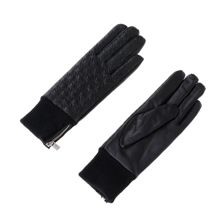 MAISON SCOTCH - Γυναικεία γάντια MAISON SCOTCH μαύρα γυναικεία αξεσουάρ φουλάρια κασκόλ γάντια