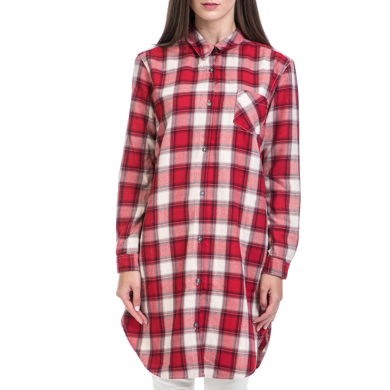 MAISON SCOTCH – Γυναικεία πουκαμίσα MAISON SCOTCH κόκκινη-λευκή
