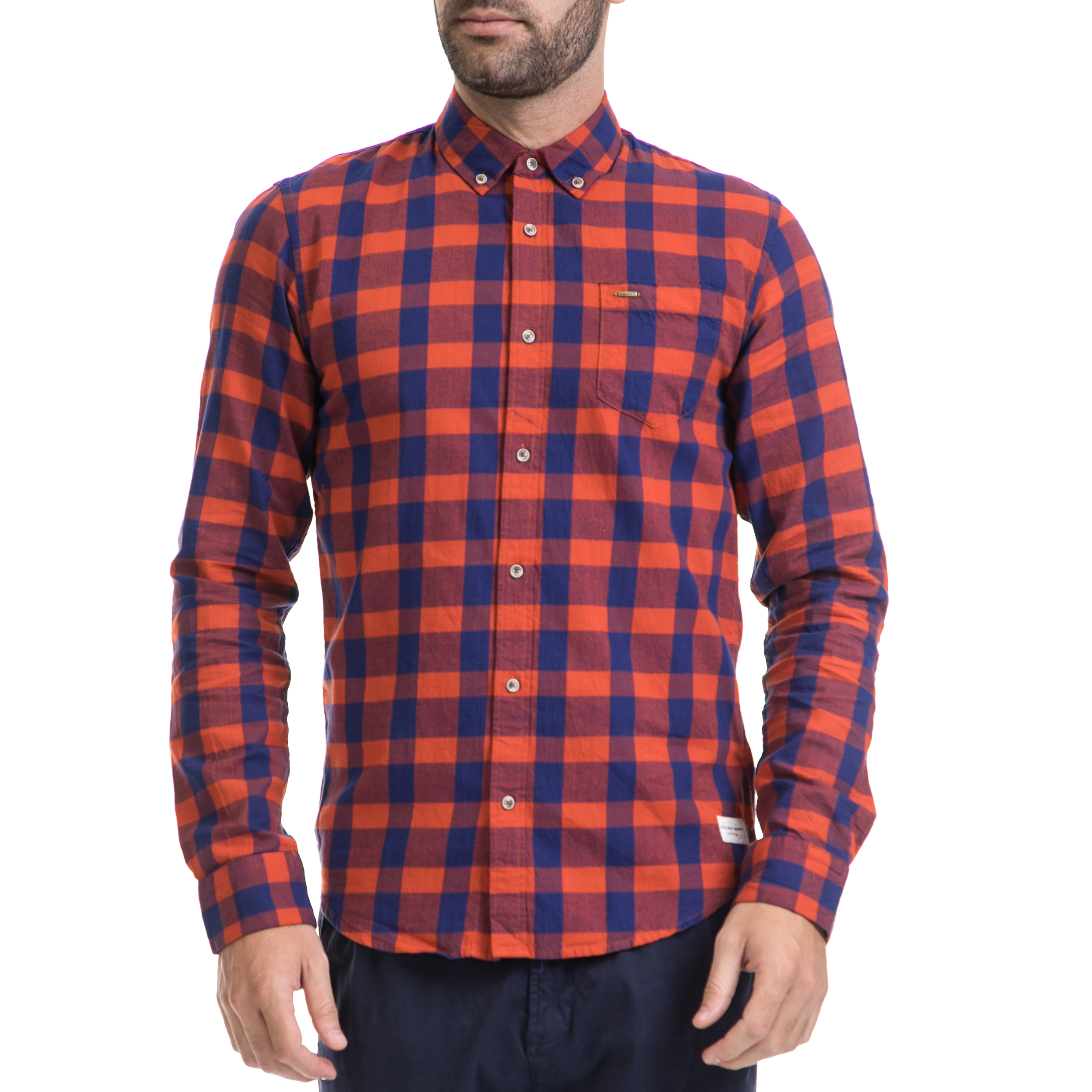 SCOTCH & SODA – Ανδρικό πουκάμισο SCOTCH & SODA μπλε-κόκκινο