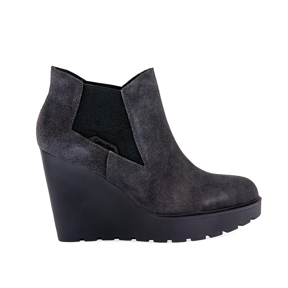 CALVIN KLEIN JEANS - Γυναικεία μποτάκια Calvin Klein Jeans γκρι γυναικεία παπούτσια μπότες μποτάκια μποτάκια