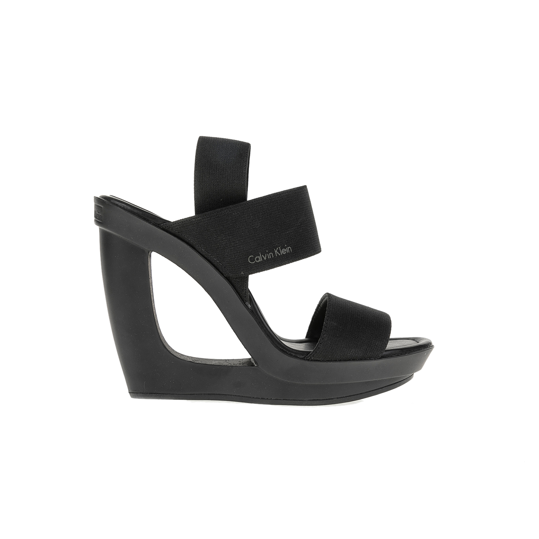 CALVIN KLEIN JEANS - Πλατφόρμες CALVIN KLEIN JEANS μαύρες γυναικεία παπούτσια πλατφόρμες