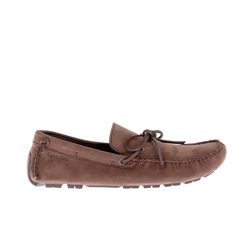 CALVIN KLEIN JEANS - Ανδρικά μοκασίνια CALVIN KLEIN JEANS GUS καφέ ανδρικά παπούτσια μοκασίνια loafers