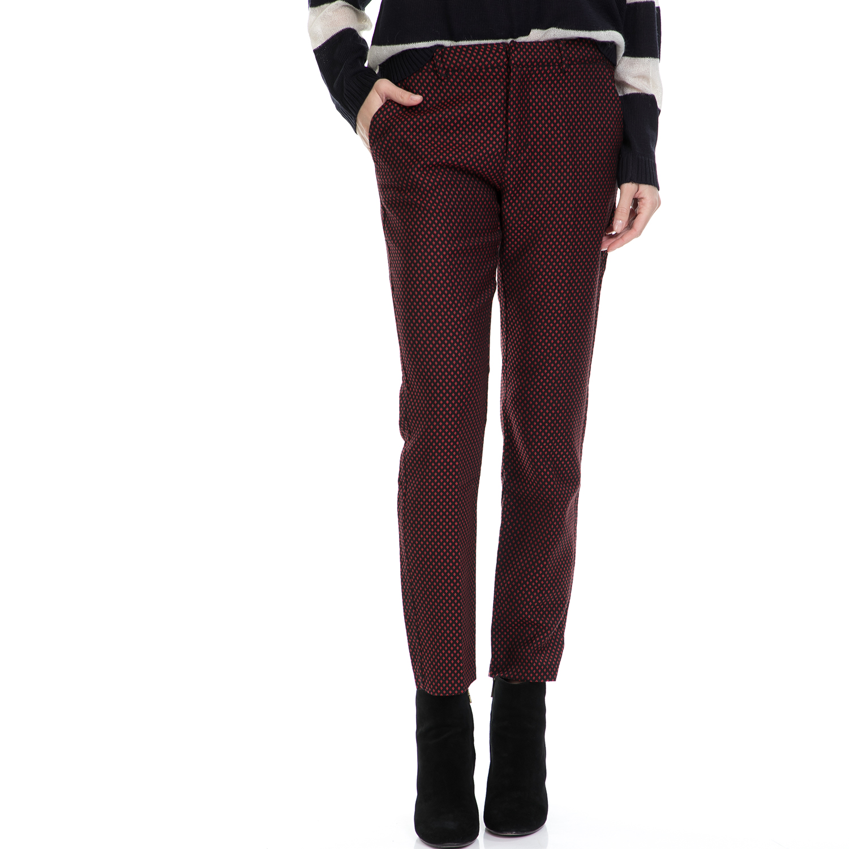 MAISON SCOTCH - Γυναικείο παντελόνι MAISON SCOTCH μαύρο-κόκκινο γυναικεία ρούχα παντελόνια casual