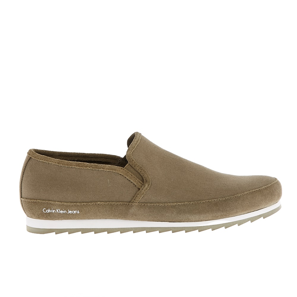 CALVIN KLEIN JEANS - Ανδρικά loafers CALVIN KLEIN JEANS WOLF χακί ανδρικά παπούτσια μοκασίνια loafers