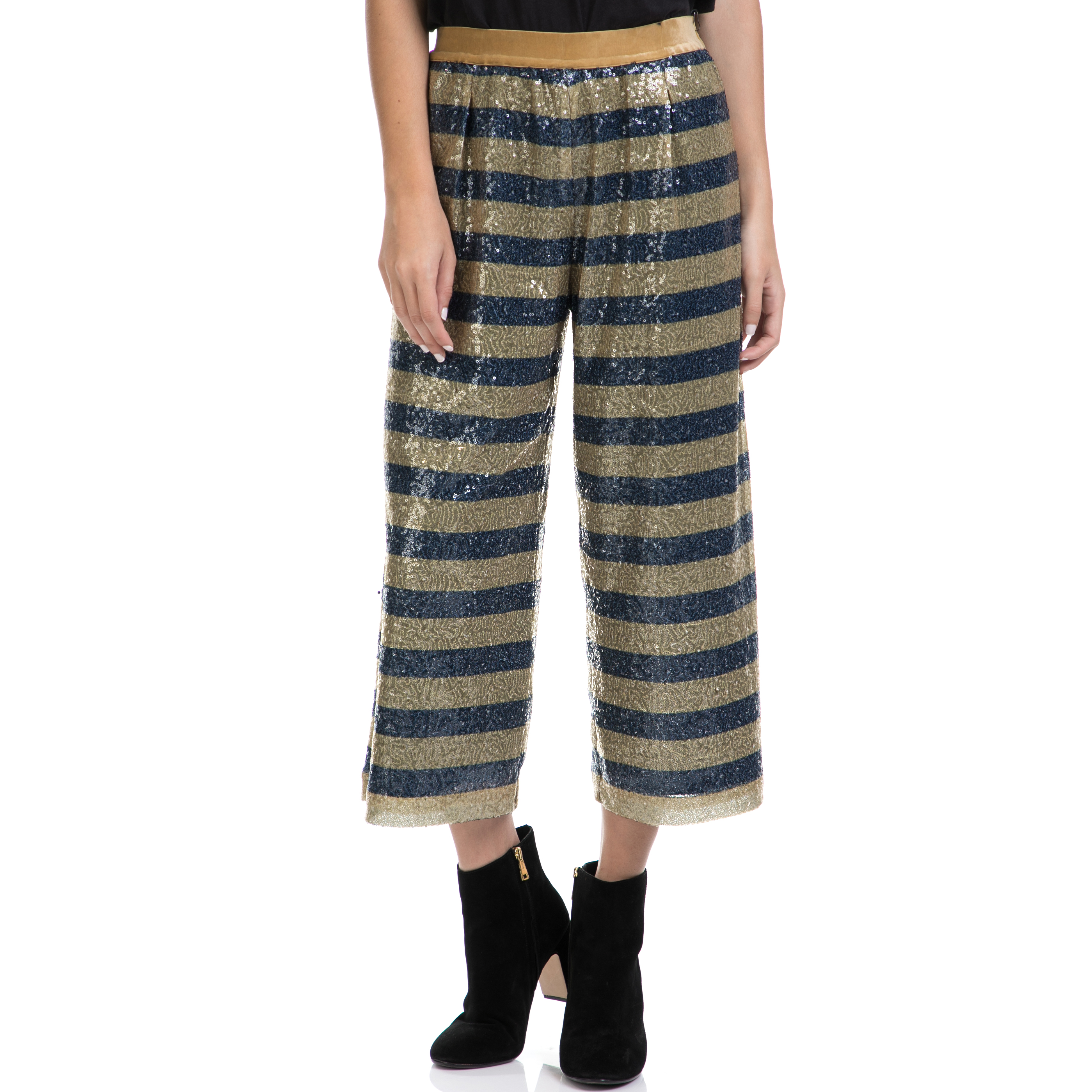 SCOTCH & SODA - Γυναικείο παντελόνι MAISON SCOTCH μπλε-χρυσό γυναικεία ρούχα παντελόνια