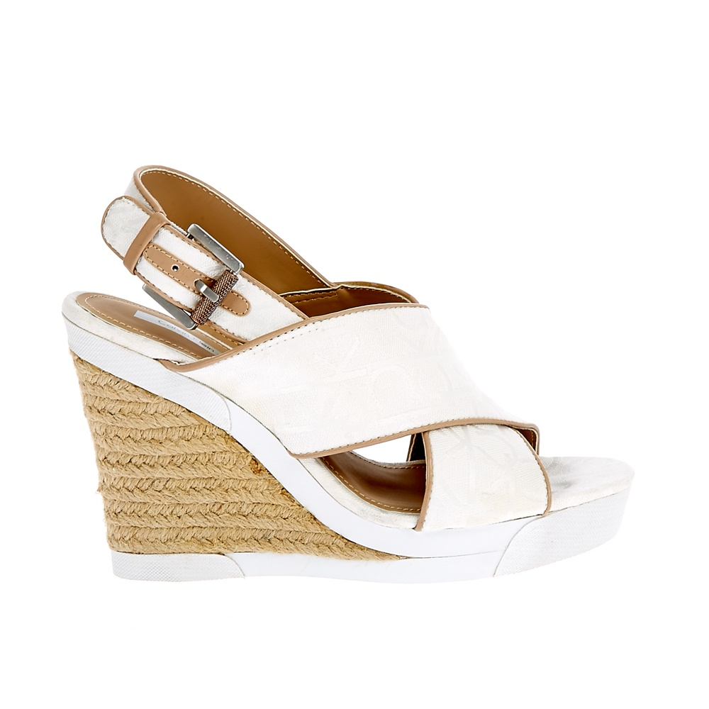 CALVIN KLEIN JEANS - Γυναικείες πλατφόρμες Calvin Klein Jeans λευκές γυναικεία παπούτσια πλατφόρμες