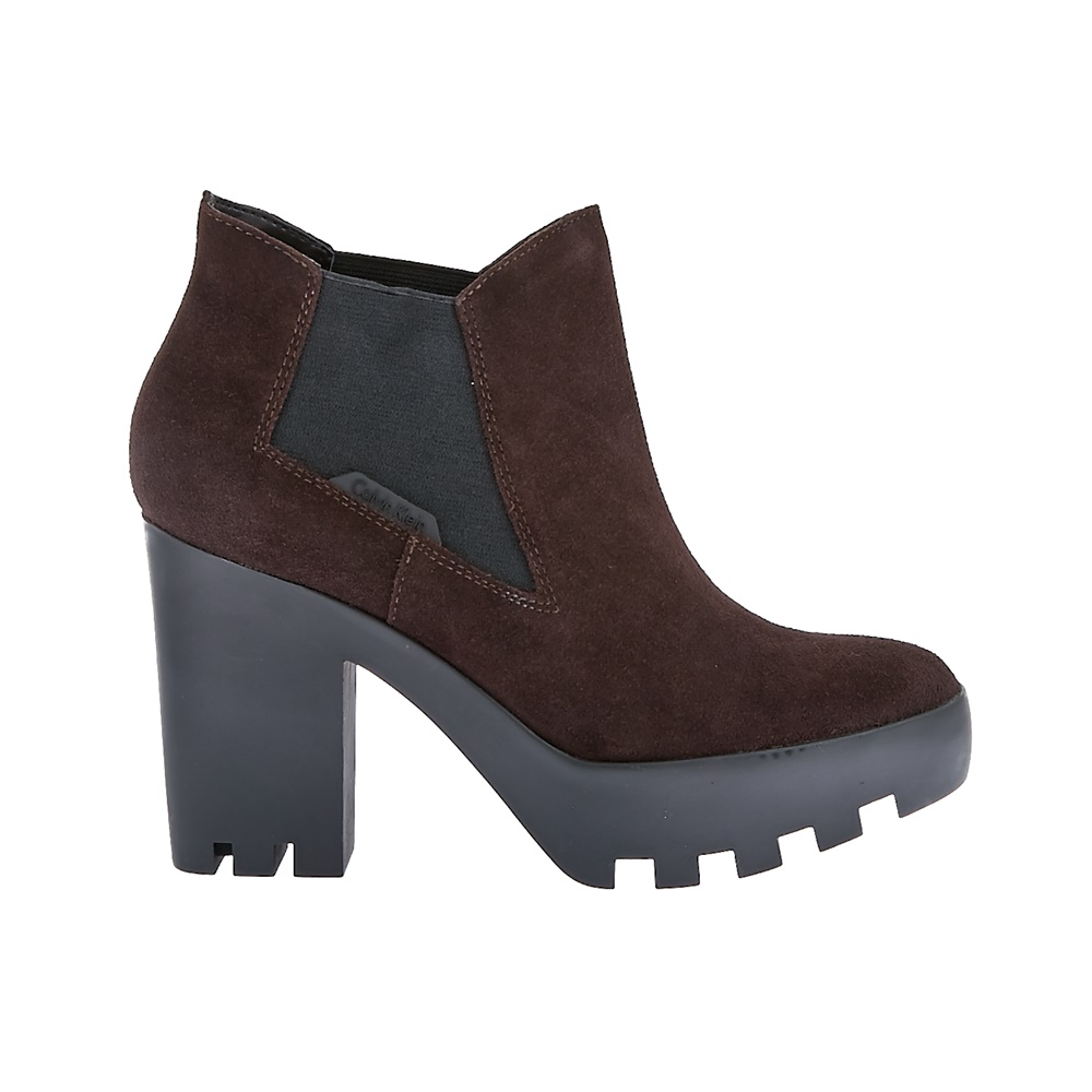 CALVIN KLEIN JEANS - Γυναικεία μποτάκια Calvin Klein Jeans καφέ γυναικεία παπούτσια μπότες μποτάκια μποτάκια