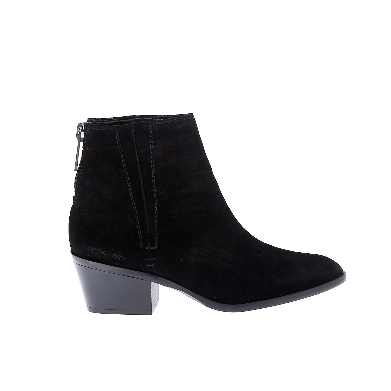 CALVIN KLEIN JEANS - Γυναικεία μποτάκια CALVIN KLEIN JEANS PHAEDRA μαύρα γυναικεία παπούτσια μπότες μποτάκια μποτάκια