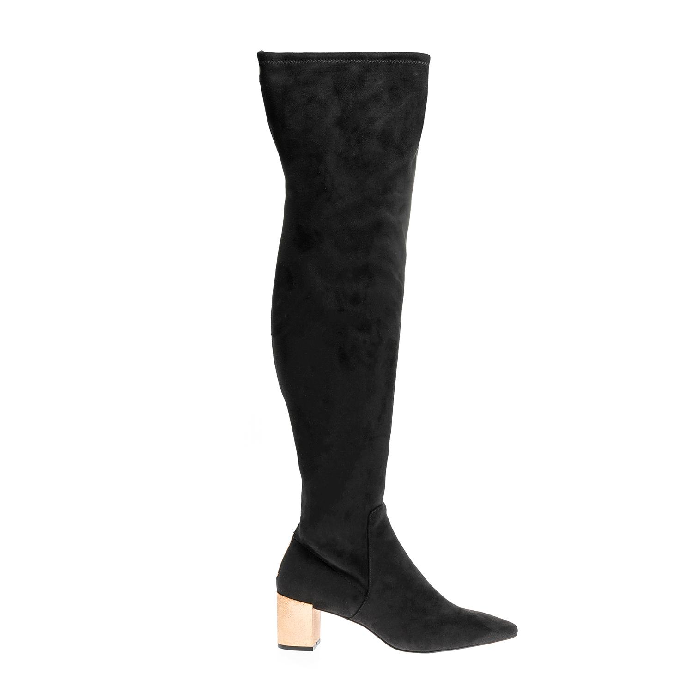 CALVIN KLEIN JEANS – Γυναικείες μπότες CALVIN KLEIN JEANS μαύρες