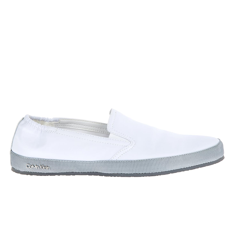 CALVIN KLEIN JEANS - Ανδρικά παπούτσια Calvin Klein Jeans λευκά ανδρικά παπούτσια μοκασίνια loafers