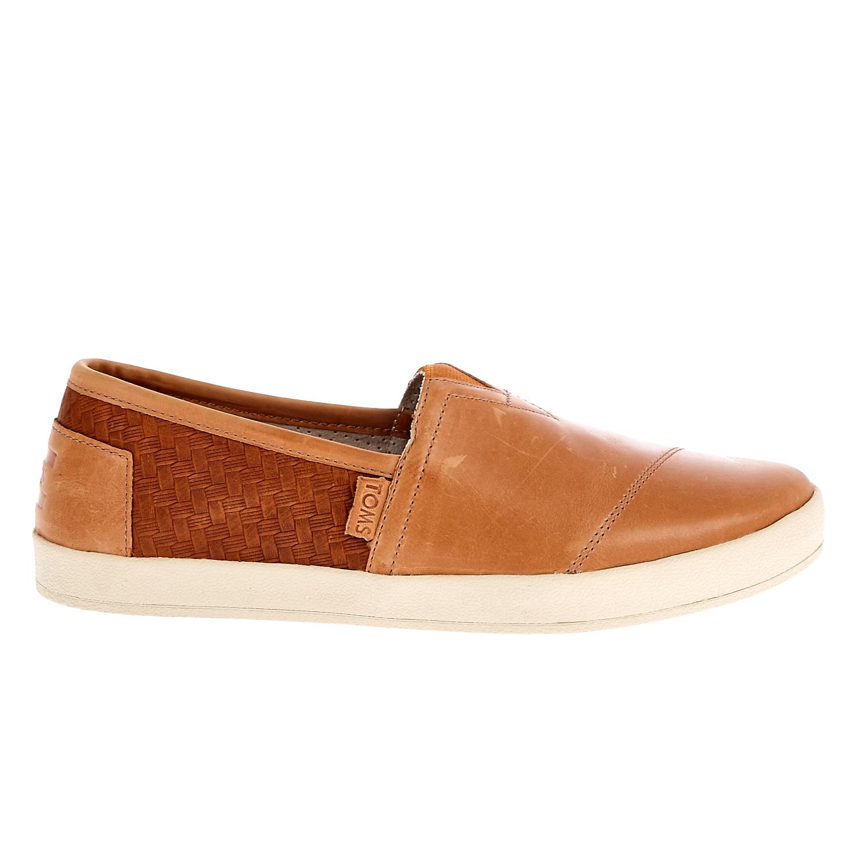 TOMS - Ανδρικά slip on παπούτσια TOMS καφέ ανδρικά παπούτσια μοκασίνια loafers