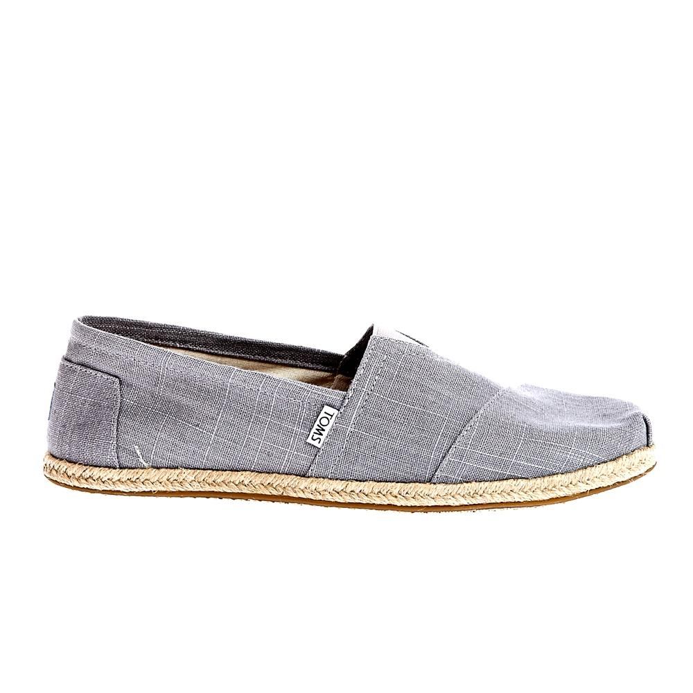 TOMS - Ανδρικές εσπαντρίγιες TOMS LINEN ROPE SOLE γκρι ανδρικά παπούτσια εσπαντρίγιες
