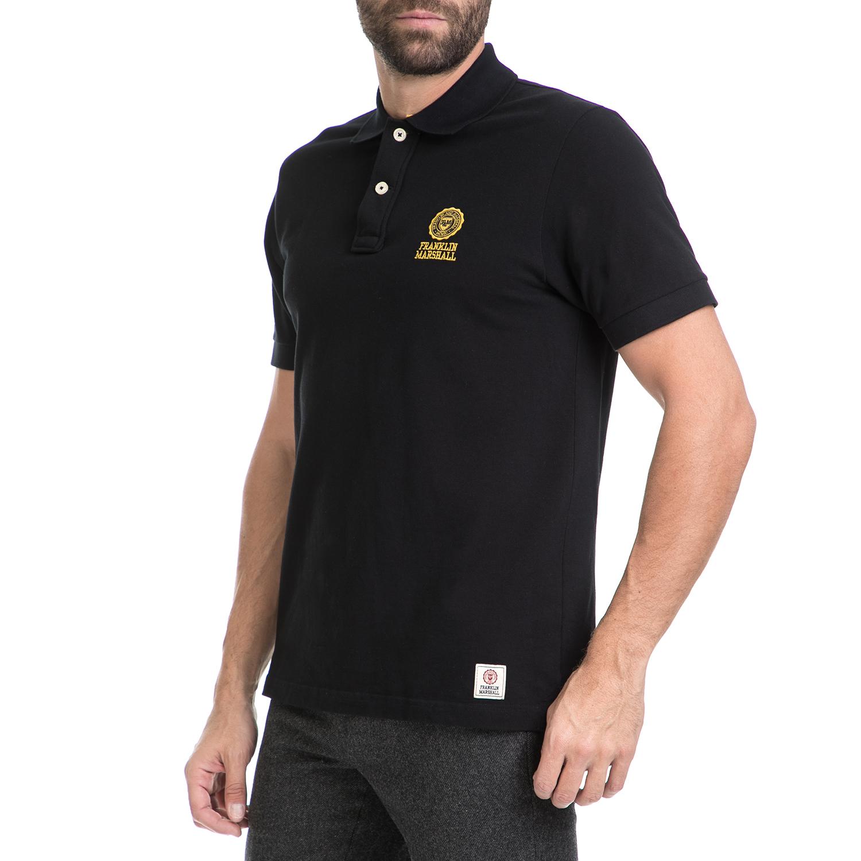 FRANKLIN & MARSHALL – Ανδρική πόλο μπλούζα FRANKLIN & MARSHALL μαύρη