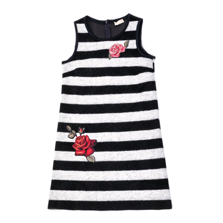 MONNALISA – Παιδικό φόρεμα Monnalisa ασπρόμαυρο