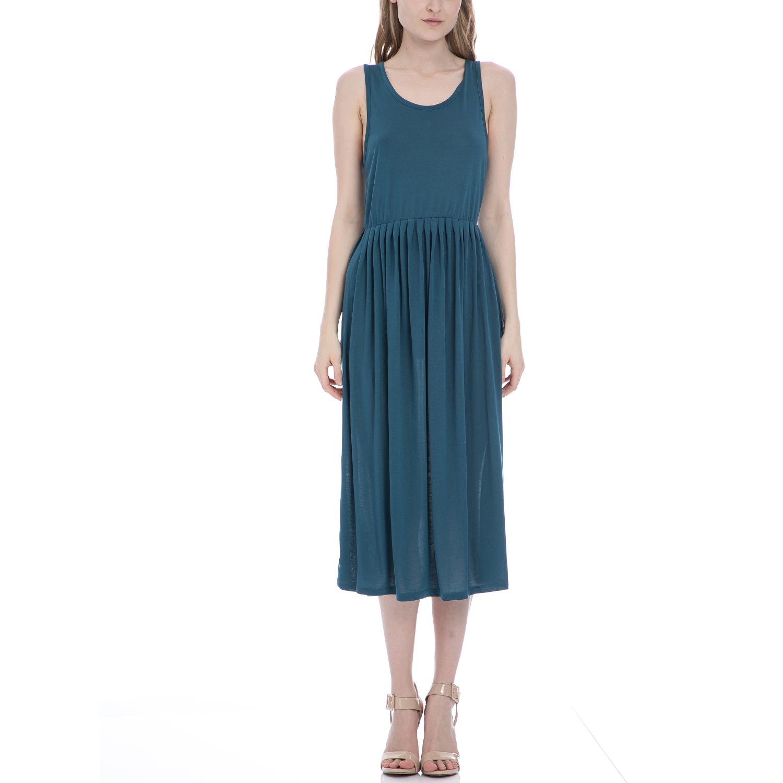 AMERICAN VINTAGE - Γυναικείο φόρεμα American Vintage πετρόλ γυναικεία ρούχα φορέματα μέχρι το γόνατο