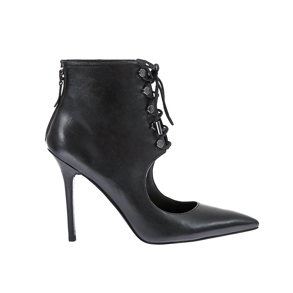 GUESS - Γυναικείες γόβες Guess μαύρες γυναικεία παπούτσια μπότες μποτάκια μποτάκια