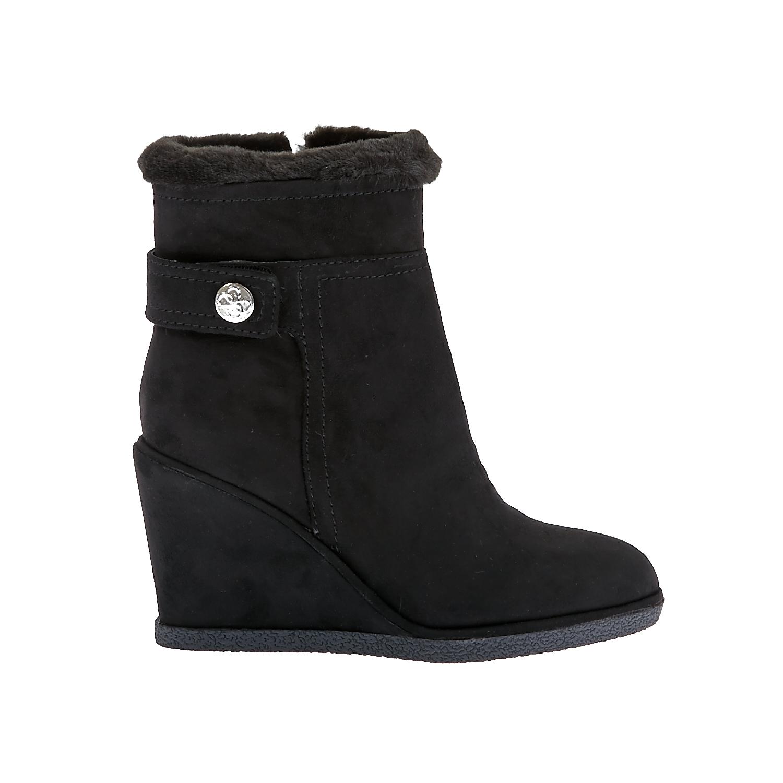 GUESS - Γυναικεία μποτάκια Guess μαύρα γυναικεία παπούτσια μπότες μποτάκια μποτάκια