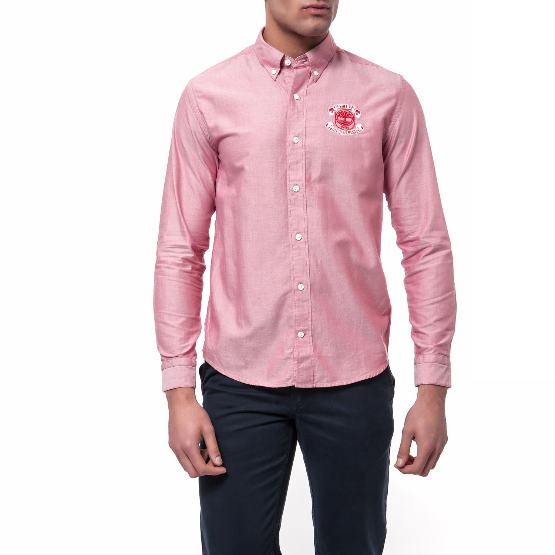 7ebd70be1177 TIMBERLAND - Ανδρικό πουκάμισο TIMBERLAND ροζ