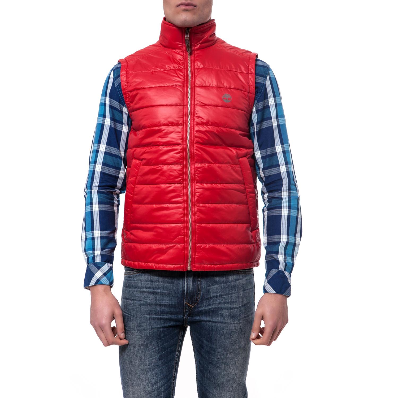 TIMBERLAND - Ανδρικό μπουφάν TIMBERLAND κόκκινο ανδρικά ρούχα πανωφόρια μπουφάν