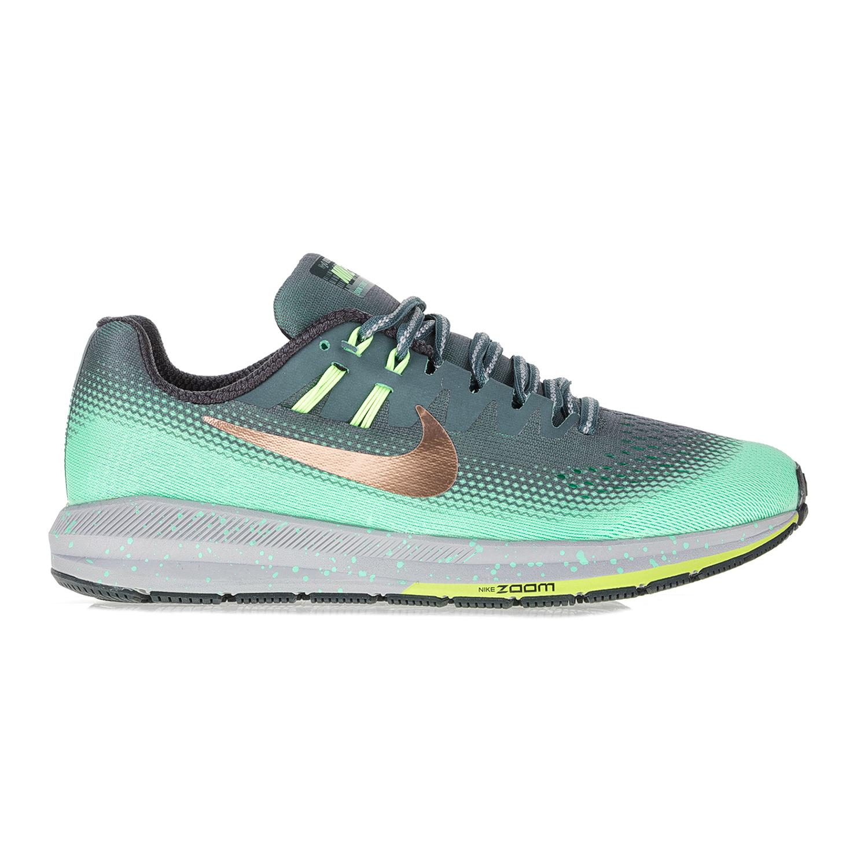 NIKE – Γυναικεία αθλητικά παπούτσια ΝΙΚΕ AIR ZOOM STRUCTURE 20 SHIELD γκρι-πράσινα