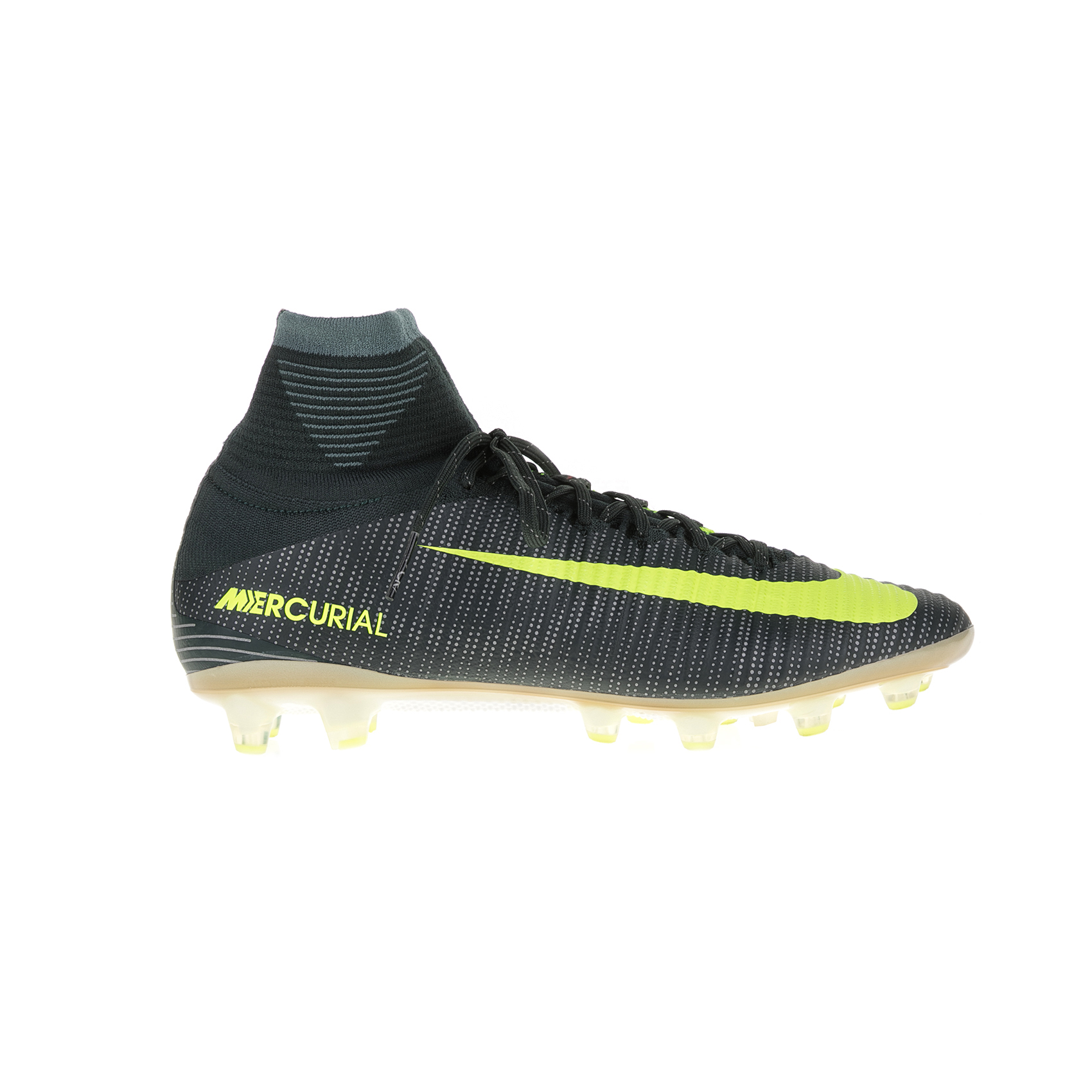 NIKE – Ανδρικά ποδοσφαιρικά παπούτσια Nike MERCURIAL SUPERFLY V CR7 AGPRO μαύρα – κίτρινα