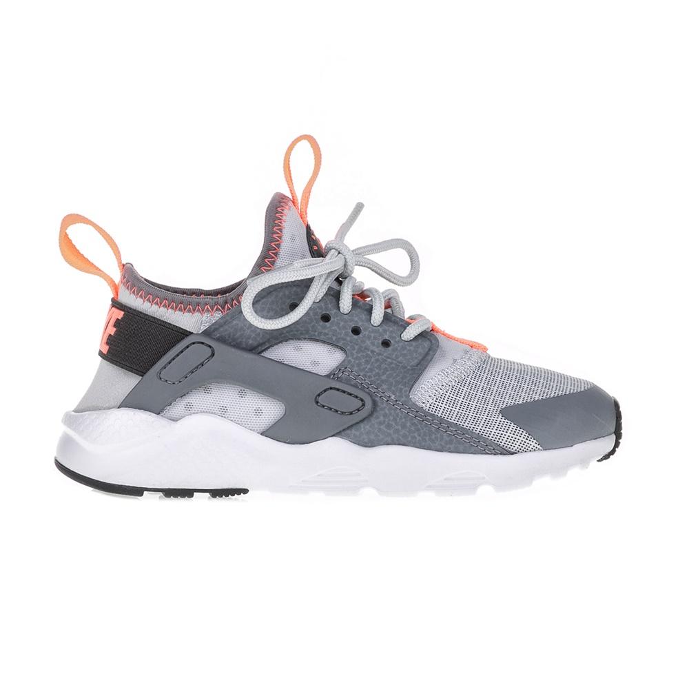 NIKE – Παιδικά αθλητικά παπούτσια NIKE HUARACHE RUN ULTRA (PS) γκρι – λευκά
