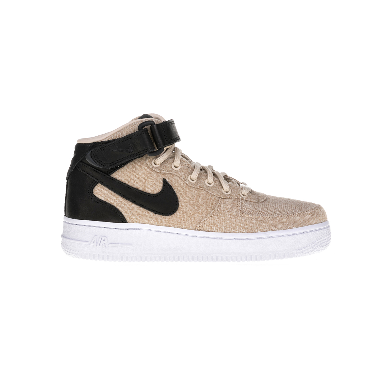 NIKE – Γυναικεία παπούτσια NIKE AIR FORCE 1 '07 MID μπεζ-μαύρα
