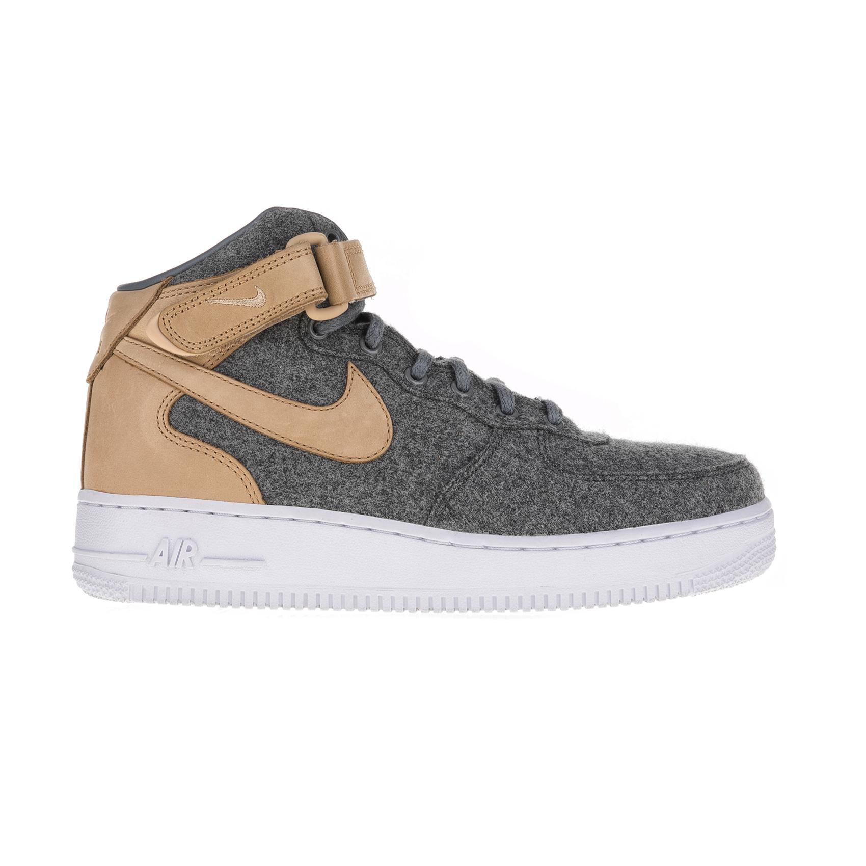 NIKE – Γυναικεία παπούτσια Nike AIR FORCE 1 '07 MID LTHR PRM γκρι