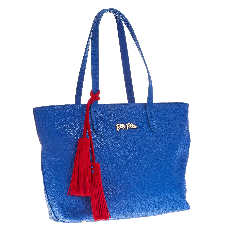 FOLLI FOLLIE - Τσάντα Folli Follie μπλε γυναικεία αξεσουάρ τσάντες σακίδια ωμου